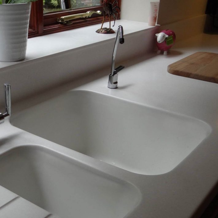 Sweet 859 integrated sink corian for Corian preise